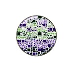Block On Block, Purple Hat Clip Ball Marker (4 pack) Front