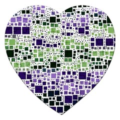 Block On Block, Purple Jigsaw Puzzle (Heart)