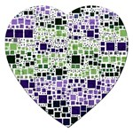 Block On Block, Purple Jigsaw Puzzle (Heart) Front