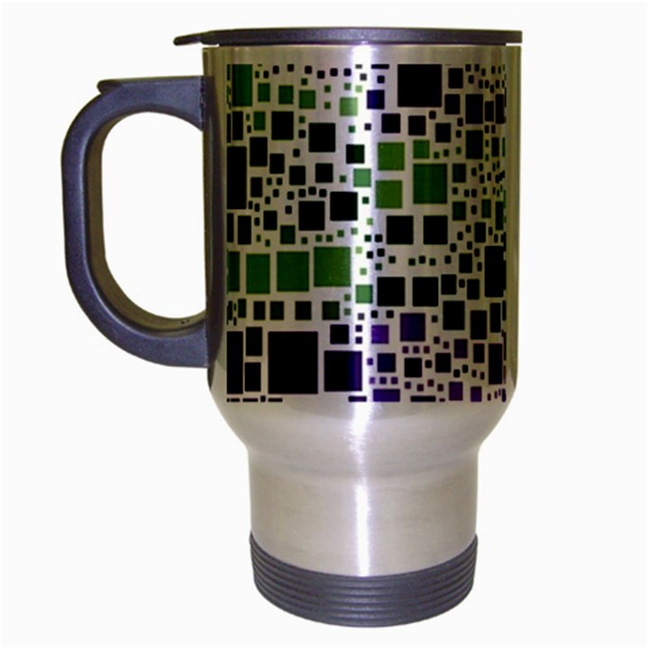 Block On Block, Purple Travel Mug (Silver Gray)