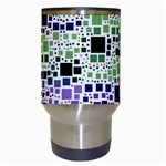 Block On Block, Purple Travel Mugs (White) Center
