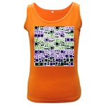 Block On Block, Purple Women s Dark Tank Top Front