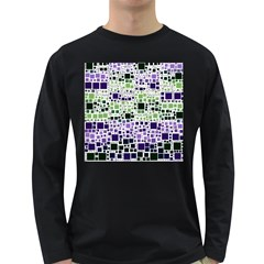 Block On Block, Purple Long Sleeve Dark T Shirts