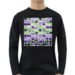 Block On Block, Purple Long Sleeve Dark T-Shirts Front