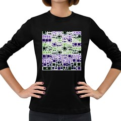 Block On Block, Purple Women s Long Sleeve Dark T-Shirts
