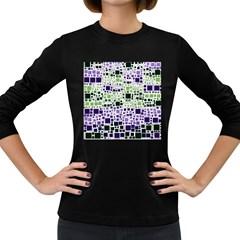 Block On Block, Purple Women s Long Sleeve Dark T Shirts