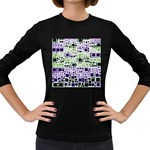 Block On Block, Purple Women s Long Sleeve Dark T-Shirts Front