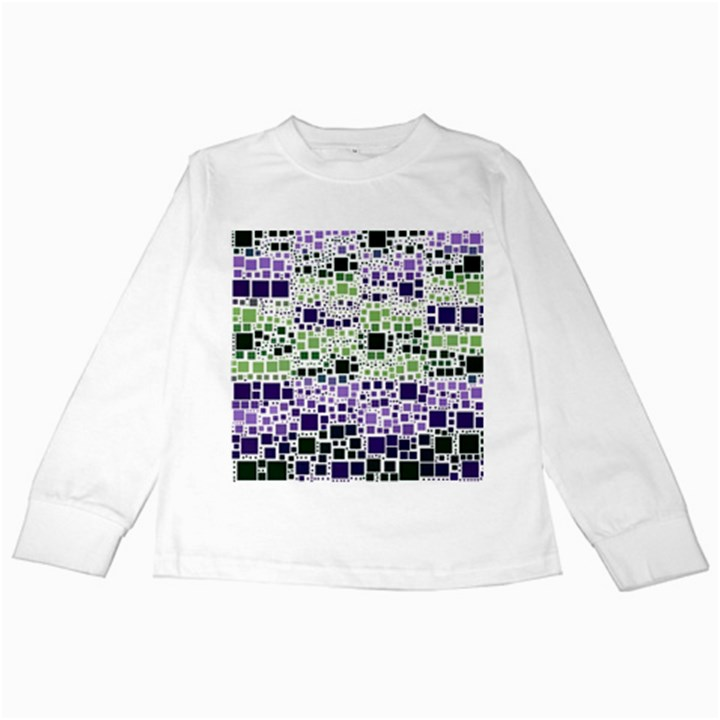 Block On Block, Purple Kids Long Sleeve T-Shirts
