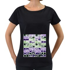 Block On Block, Purple Women s Loose-Fit T-Shirt (Black)
