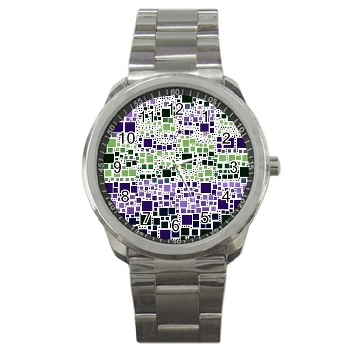 Block On Block, Purple Sport Metal Watch