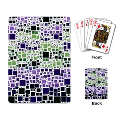 Block On Block, Purple Playing Card