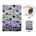 Block On Block, Purple Playing Card Back