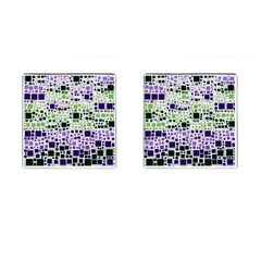 Block On Block, Purple Cufflinks (Square)