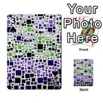 Block On Block, Purple Playing Cards 54 Designs  Front - Spade3