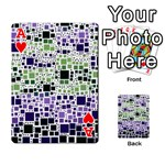 Block On Block, Purple Playing Cards 54 Designs  Front - HeartA