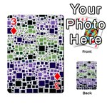 Block On Block, Purple Playing Cards 54 Designs  Front - Diamond3