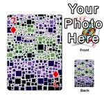 Block On Block, Purple Playing Cards 54 Designs  Front - Diamond7
