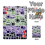 Block On Block, Purple Playing Cards 54 Designs  Front - Diamond10