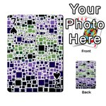 Block On Block, Purple Playing Cards 54 Designs  Front - Spade7
