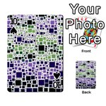 Block On Block, Purple Playing Cards 54 Designs  Front - Spade10