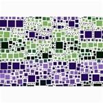 Block On Block, Purple Collage Prints 18 x12 Print - 3