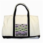 Block On Block, Purple Two Tone Tote Bag Front