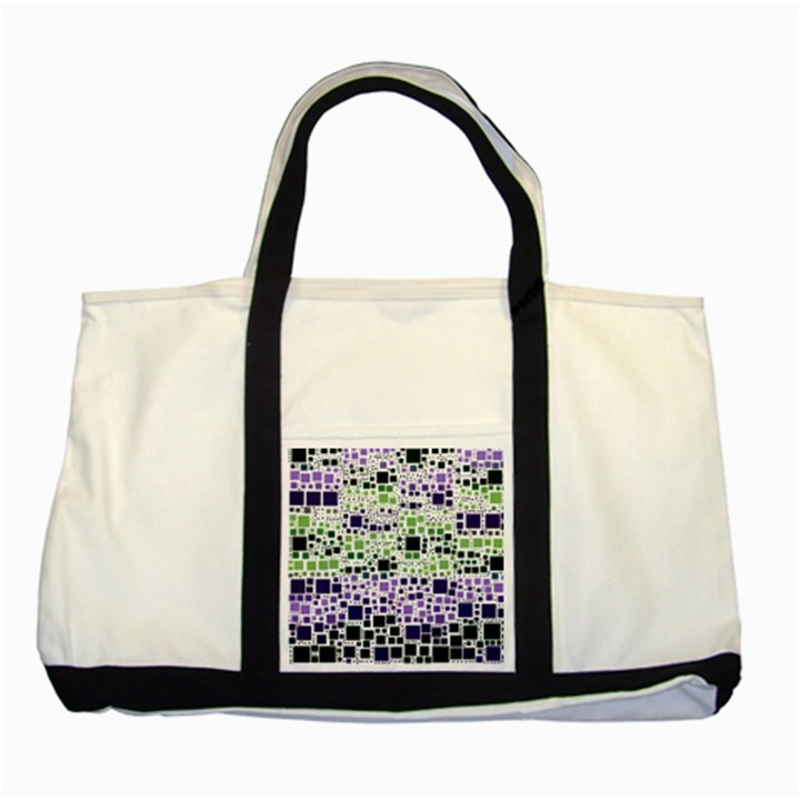 Block On Block, Purple Two Tone Tote Bag