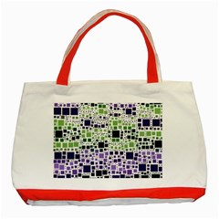 Block On Block, Purple Classic Tote Bag (Red)