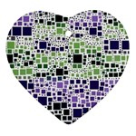 Block On Block, Purple Heart Ornament (2 Sides) Front