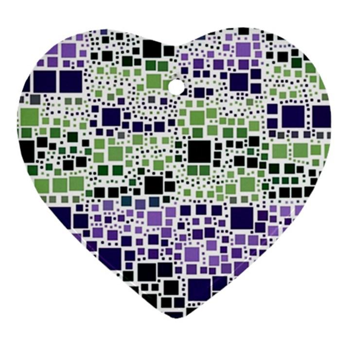Block On Block, Purple Heart Ornament (2 Sides)