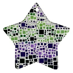 Block On Block, Purple Star Ornament (Two Sides)