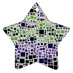 Block On Block, Purple Star Ornament (Two Sides)  Back