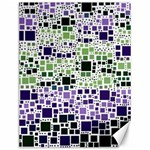 Block On Block, Purple Canvas 12  x 16   16 x12 Canvas - 1