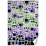 Block On Block, Purple Canvas 12  x 18   18 x12 Canvas - 1