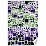 Block On Block, Purple Canvas 20  x 30   30 x20 Canvas - 1