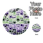 Block On Block, Purple Playing Cards 54 (Round)  Front - SpadeA