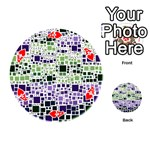 Block On Block, Purple Playing Cards 54 (Round)  Front - HeartA