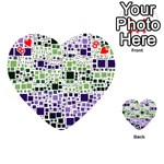 Block On Block, Purple Playing Cards 54 (Heart)  Front - Heart8