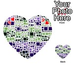 Block On Block, Purple Playing Cards 54 (Heart)  Front - Heart9