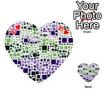 Block On Block, Purple Playing Cards 54 (Heart)  Front - Heart10