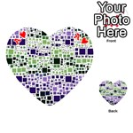 Block On Block, Purple Playing Cards 54 (Heart)  Front - HeartA