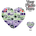 Block On Block, Purple Playing Cards 54 (Heart)  Front - DiamondQ