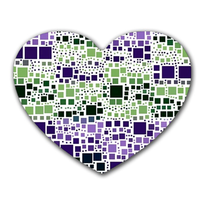 Block On Block, Purple Heart Mousepads