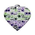 Block On Block, Purple Dog Tag Heart (One Side) Front