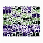 Block On Block, Purple Small Glasses Cloth (2-Side) Back