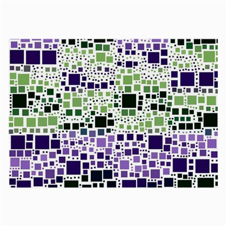 Block On Block, Purple Large Glasses Cloth (2-Side)