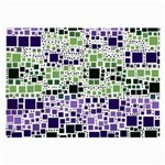 Block On Block, Purple Large Glasses Cloth (2-Side) Back