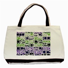 Block On Block, Purple Basic Tote Bag (two Sides)