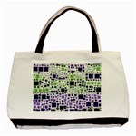Block On Block, Purple Basic Tote Bag (Two Sides) Back