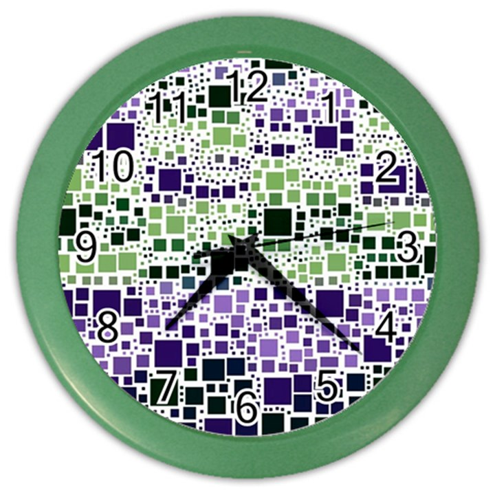 Block On Block, Purple Color Wall Clocks